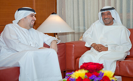صورة: سمو الشيخ أحمد بن سعيد آل مكتوم، رئيس