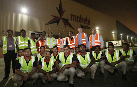 The team from Mohebi Logistics worked through the night for the first deliveries.